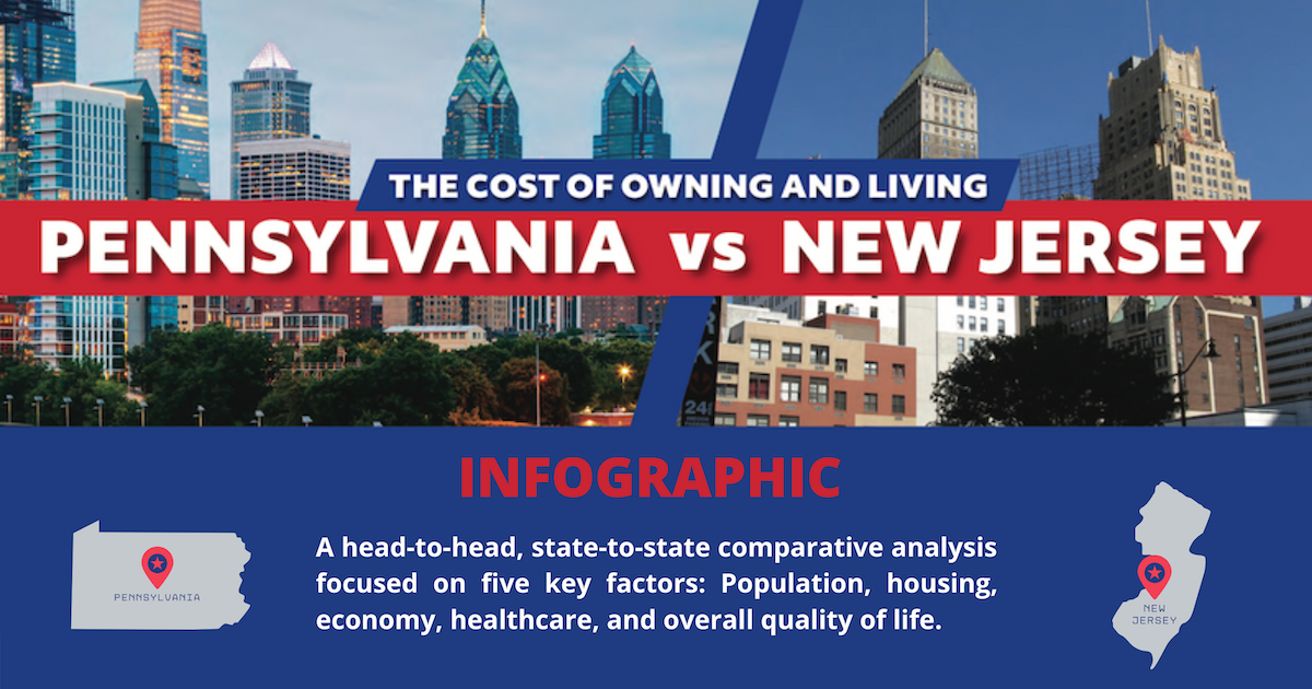 cost of living new jersey vs pennsylvania