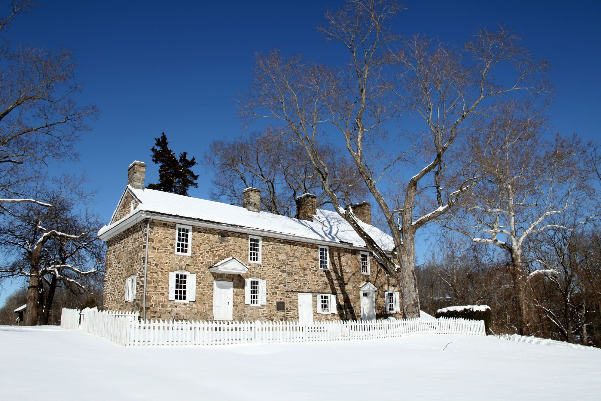 Snowy Home in Bucks County Pennsylvania
