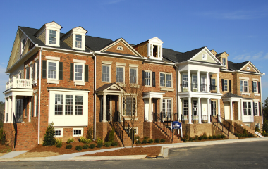 A group of townhomes in Bucks County, PA